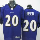 Baltimore Ravens # 20 Reed NFL Jersey Purple