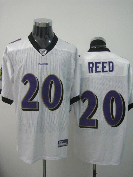 Baltimore Ravens # 20 Reed NFL Jersey White