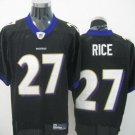 Baltimore Ravens # 27 Rice NFL Jersey Black