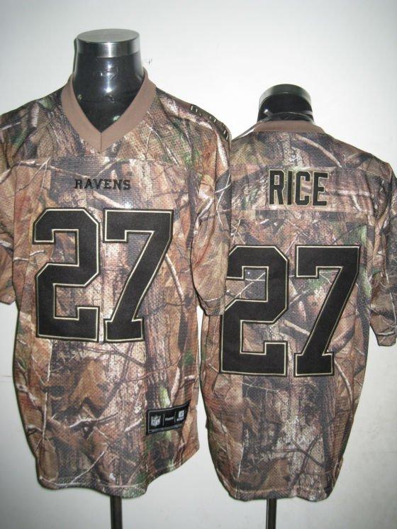 Baltimore Ravens # 27 Rice NFL Jersey Camo