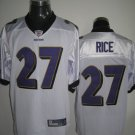 Baltimore Ravens # 27 Rice NFL Jersey White