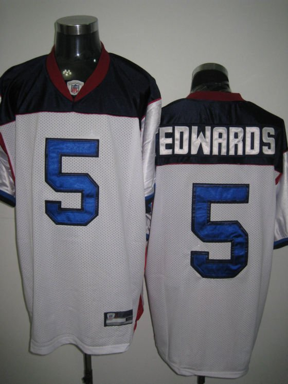 Buffalo Bills # 5 Edwards NFL Jersey White