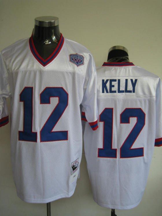 Buffalo Bills # 12 Kelly NFL Jersey White