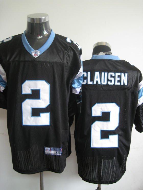 Carolina Panthers # 2 Clausen NFL Jersey Black
