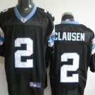 Carolina Panthers # 2 Clausen NFL Jersey Black