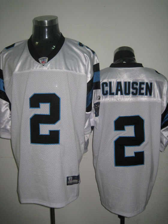Carolina Panthers # 2 Clausen NFL Jersey White