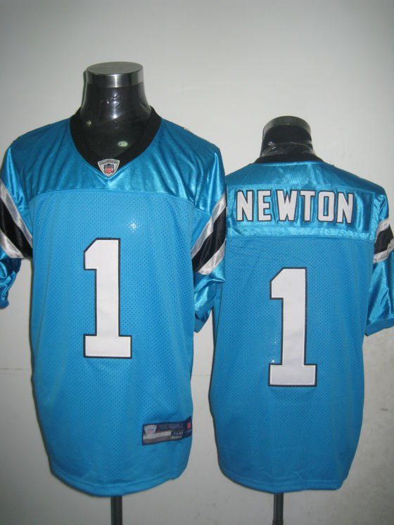 Carolina Panthers # 1  Newton NFL Jersey Blue