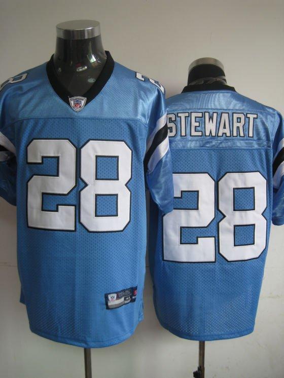 Carolina Panthers # 28 Stewart NFL Jersey Blue