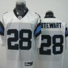 Carolina Panthers # 28 Stewart NFL Jersey White