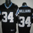 Carolina Panthers # 34 Willliams NFL Jersey Black