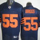 Chicago Bears # 55 Briggs NFL Jersey Blue Orange