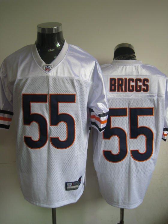 Chicago Bears # 55 Briggs NFL Jersey White