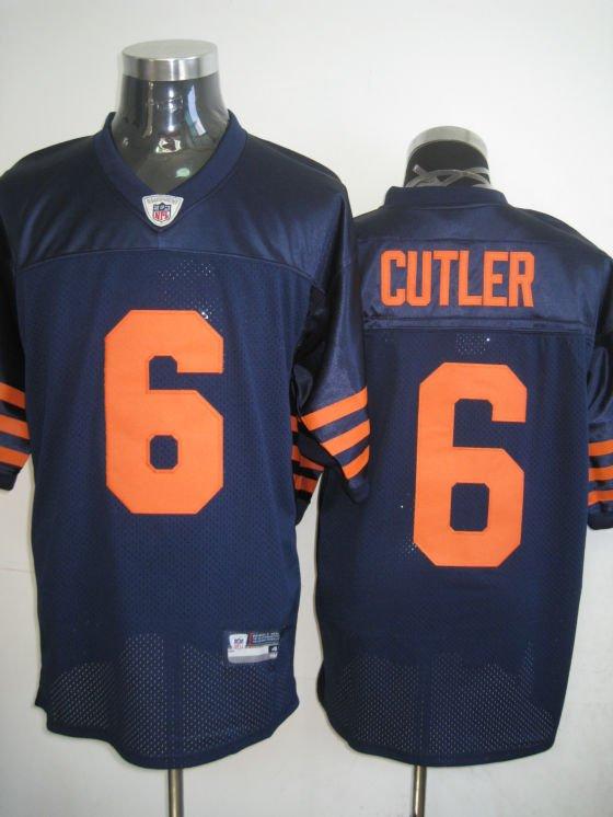 Chicago Bears # 6 Cutler NFL Jersey Blue Orange