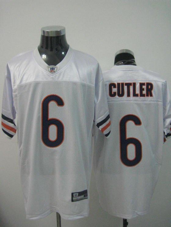 Chicago Bears # 6 Cutler NFL Jersey White