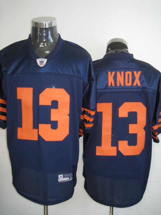 Chicago Bears # 13 Knox NFL Jersey Blue Orange