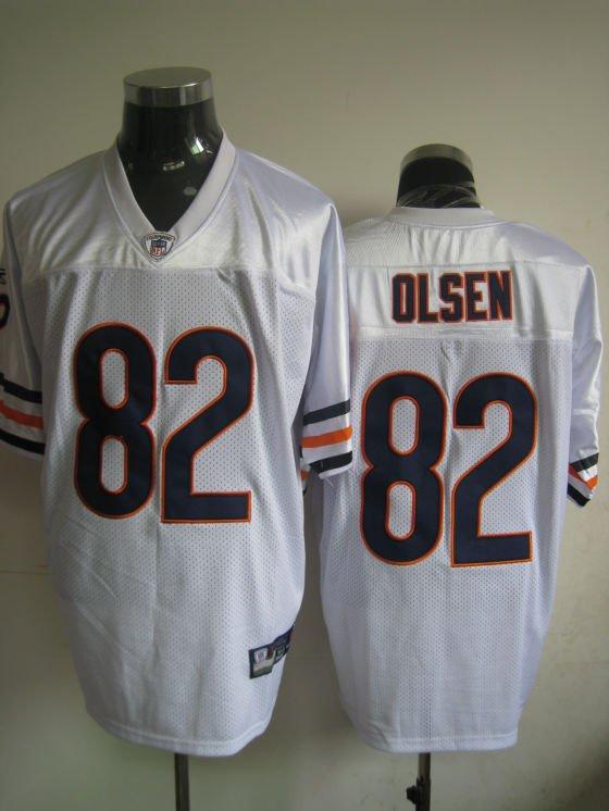Chicago Bears # 82 Olsen NFL Jersey White