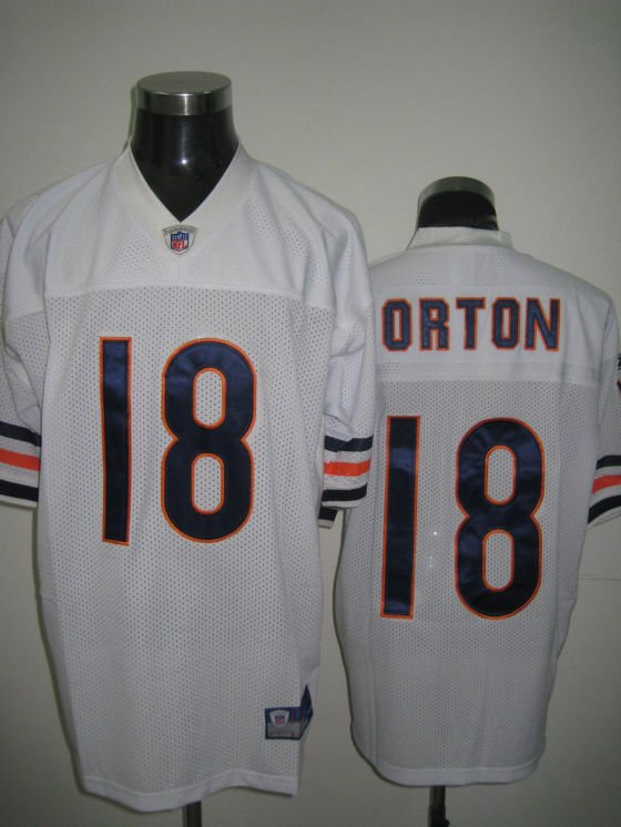 Chicago Bears # 18 Orton NFL Jersey White