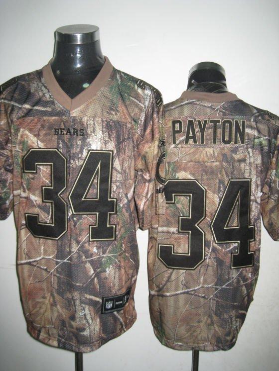 Chicago Bears # 34 Payton NFL Jersey Camo