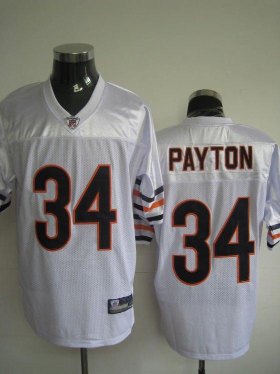 Chicago Bears # 34 Payton NFL Jersey White