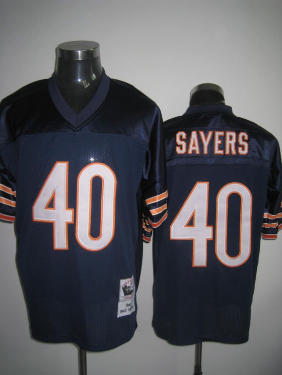 Chicago Bears # 40 Sayers NFL Jersey Blue