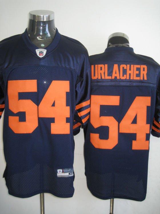 Chicago Bears # 54 Urlacher NFL Jersey Blue Orange