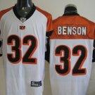 Cincinnati Bengals # 32 Benson NFL Jersey White