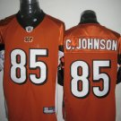 Cincinnati Bengals # 85 C. Johnson NFL Jersey Orange