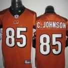 Cincinnati Bengals # 85 C. Johnson NFL Jersey Orange