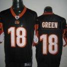 Cincinnati Bengals # 18 Green NFL Jersey Black