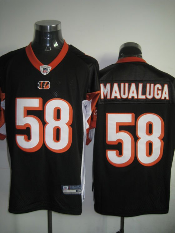 Cincinnati Bengals # 58 Maualuga NFL Jersey Black