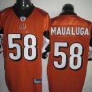 Cincinnati Bengals # 58 Maualuga NFL Jersey Orange