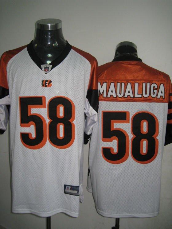 Cincinnati Bengals # 58 Maualuga NFL Jersey White
