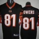Cincinnati Bengals # 81 Owens NFL Jersey Black
