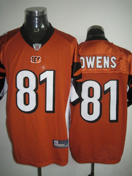 Cincinnati Bengals # 81 Owens NFL Jersey Orange