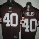 Cleveland Browns # 40 Hillis NFL Jersey Brown