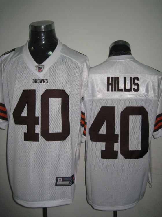 Cleveland Browns # 40 Hillis NFL Jersey White