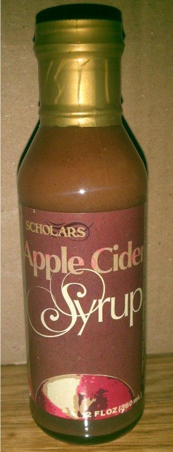 Scholars Natural Apple Cider Syrup 12 oz. Glass Jar (360 mL) New York Farms