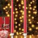 Red Flameless Led Taper Candles