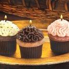 Cupcake Candle Trio