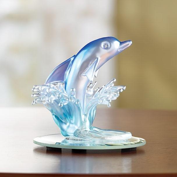Art-Glass Dolphin Figurine