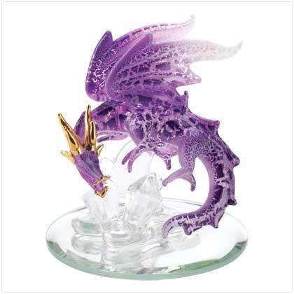 Spun Glass Purple Dragon