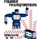 Math T-Shirt - Size XL - Unisex White - Fourier Transformers / Sinewave
