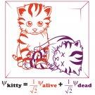 Physics T-Shirt - Size XL - Unisex White - Schrodinger's Cat (Hot Version)