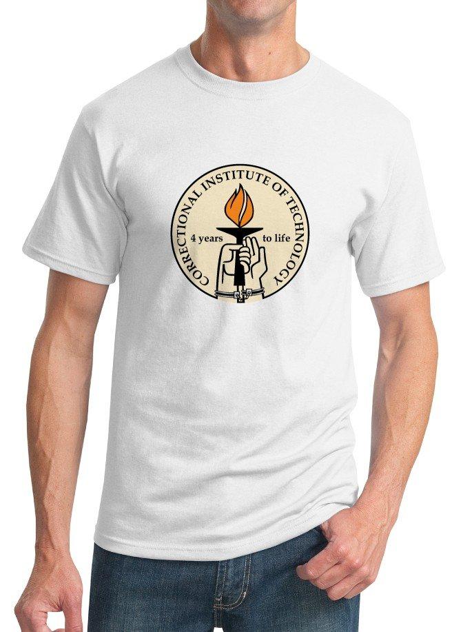 Nerd T-Shirt - Size S - Unisex White - Correctional Institute of Technology