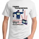 Math T-Shirt - Size L - Unisex White - Fourier Transformers / Sinewave