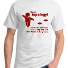 Math T-Shirt - Size L - Unisex White - Topology
