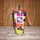 Monogrammed tumbler with straw 16oz