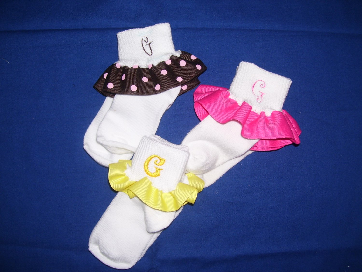Personalized ruffled socks