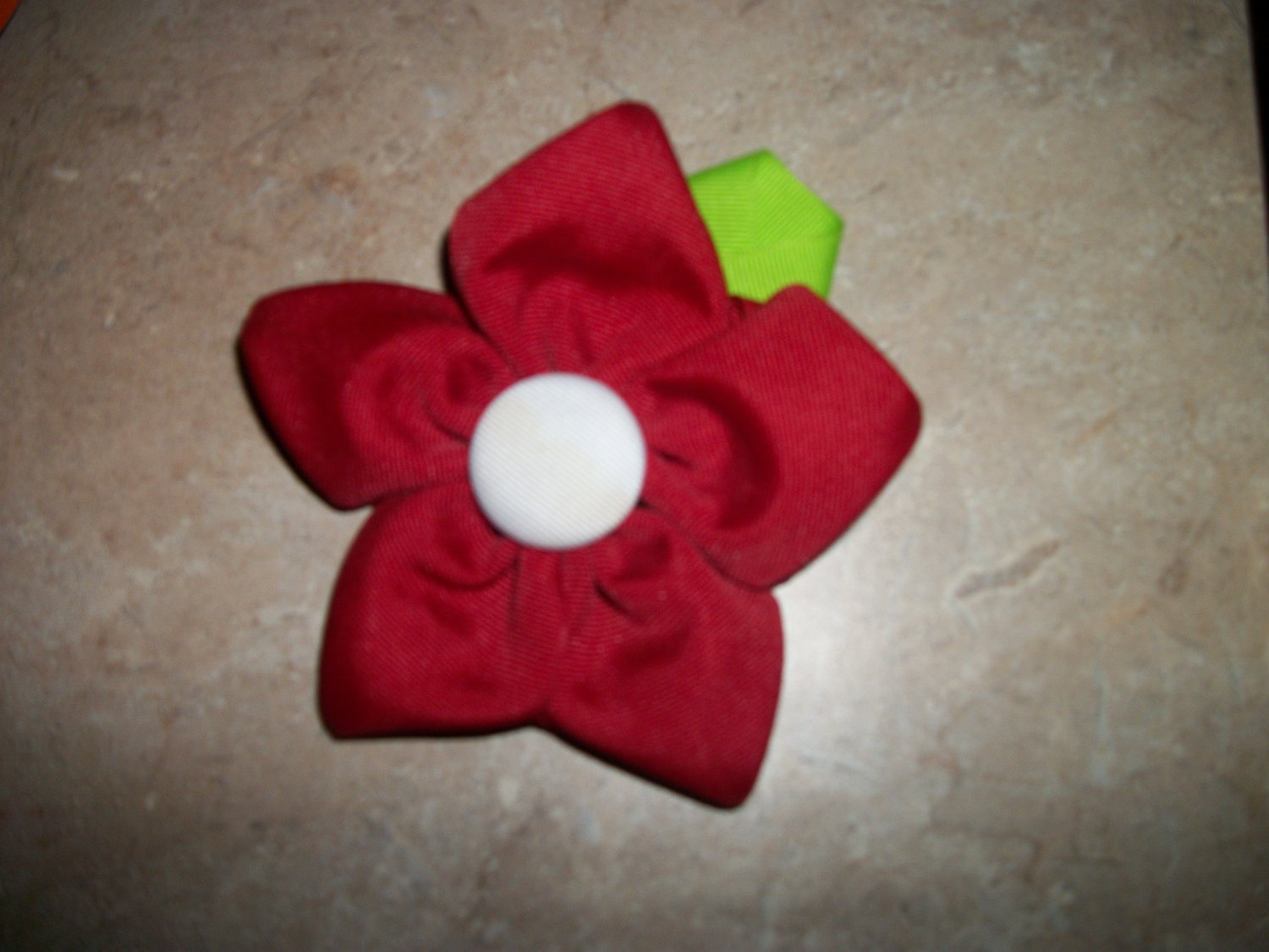 boutique flower hair bow
