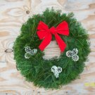 "26"" balsam wreath (hand tied)"